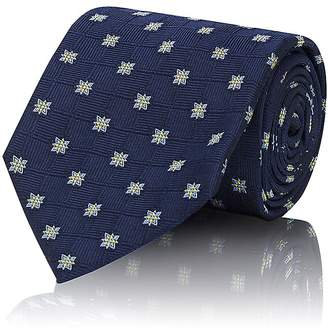 Brioni Men's Flower-Pattern Silk Necktie