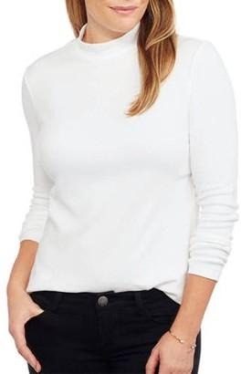 White Stag Women's Basic Long Sleeve Mockneck T-Shirt