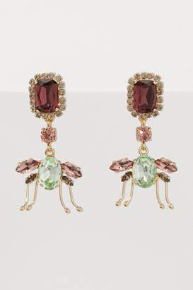Erdem Ladybird Drop earrings