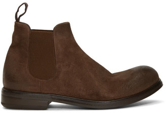 Marsèll Brown Suede Zucca Media Beatles Boots