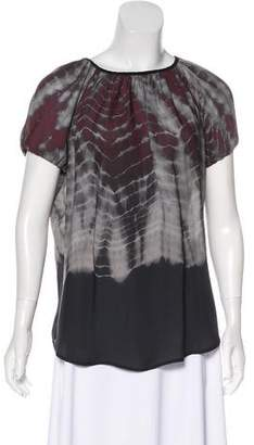 L'Agence Silk Printed Top