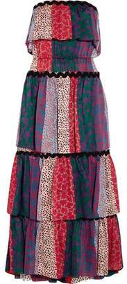 Sonia Rykiel Tiered Printed Cotton Midi Dress