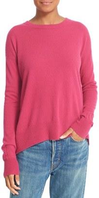 Women's Vince Boxy Cashmere Pullover $320 thestylecure.com