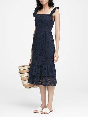 Banana Republic Eyelet Pinafore Dress