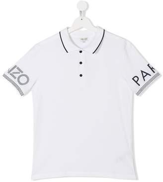 Kenzo logo short-sleeve polo top