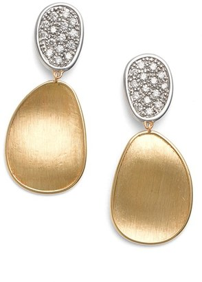 Women's Marco Bicego Lunaria Diamond Drop Earrings $3,470 thestylecure.com