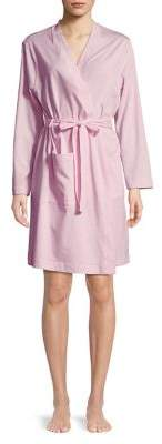 Lord & Taylor Plus Shawl Collar Cotton Robe
