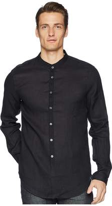 John Varvatos Collection Slim Fit Band Collar Shirt W538U1 Men's Long Sleeve Button Up