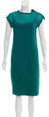 Lanvin Raw-Edge Knee-Length Dress