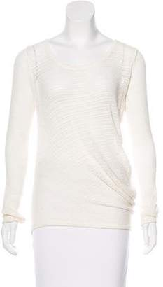 Helmut Lang Long Sleeve Open Knit Sweater