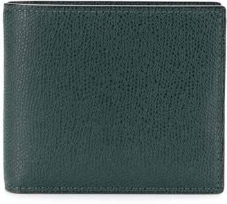 Valextra pebbled bi-fold wallet