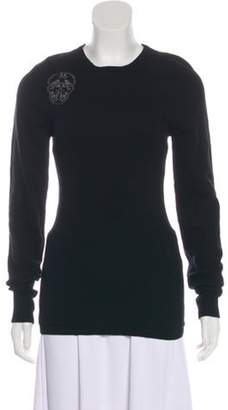 Thomas Wylde Wool Skull Sweater Black Wool Skull Sweater
