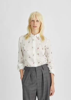 Isabel Marant Uliana Embroidered Shirt White