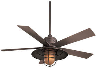 "Minka Aire Ceiling Fans Minka Aire 54"" RainMan 5 Blade Outdoor LED Ceiling Fan"