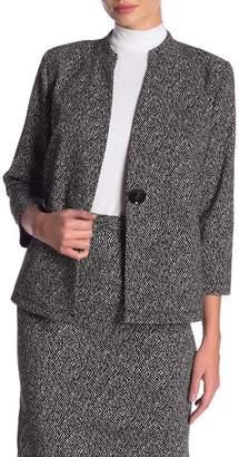Kasper Printed Jacquard Knit Jacket