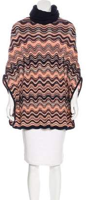 Missoni Turtleneck Knit Poncho