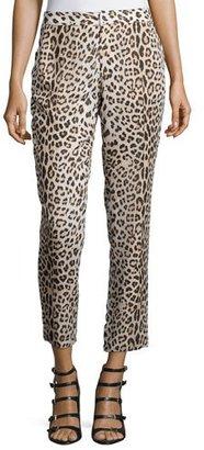Haute Hippie Leopard-Print Cropped Pants, Buff/Black $395 thestylecure.com