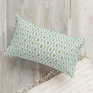 Organic Droplet Self-Launch Lumbar Pillows