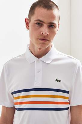 Lacoste Sport Chest Stripe Ultra Dry Pique Polo Shirt
