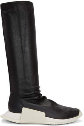 Rick Owens Black adidas Originals Edition Level Sock Runner Boots