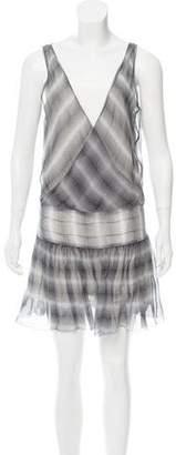 Armani Exchange Printed Silk Dress