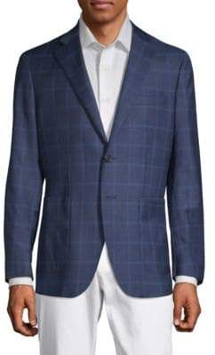 Checkered Notch Lapel Jacket