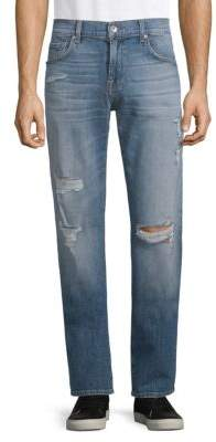7 For All Mankind Classic Stretch Straight Fit Jeans
