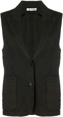 Barena button sleeveless vest