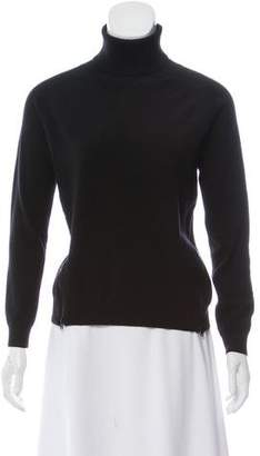 Theory Zipper-Accented Long Sleeve Sweater