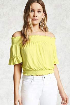 Forever 21 Smocked Off-the-Shoulder Top