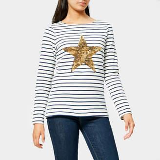 Joules Women's Harbour Luxe Star Stripe Jersey Top