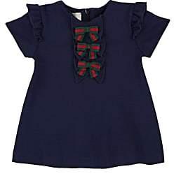 Gucci Infants' Bow-Appliquéd Jersey Dress - Navy