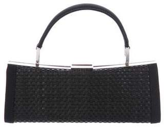 Giorgio Armani Woven Leather Handle Bag