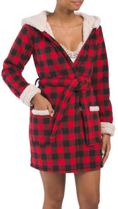 Fleece Buffalo Plaid Robe