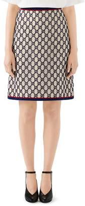 Gucci GG Macrame A-Line Skirt