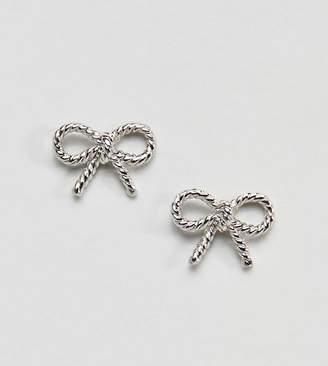 Olivia Burton Sterling Silver Vintage Bow Earrings