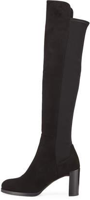 Stuart Weitzman Lowjack Suede Tall Block-Heel Boots