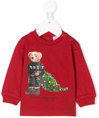Ralph Lauren Kids Christmas tree sweatshirt