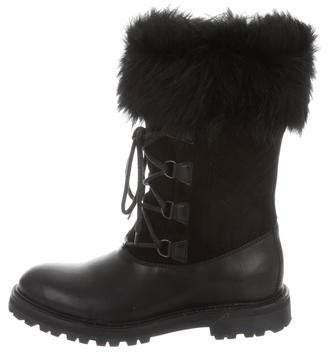 Max Mara Leather Mid-Calf Boots