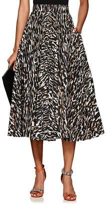 Calvin Klein Women's Leopard-Print Twill Full Skirt