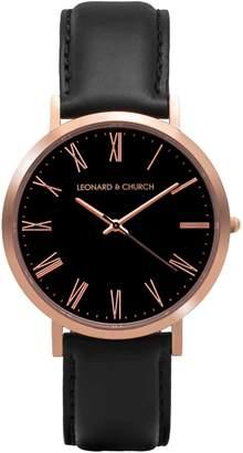Church's LEONARD AND Leonard & Crosby Leather Strap Watch, 40mm