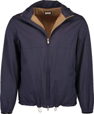 Brunello Cucinelli Nylon Removable Hood Golf Jacket
