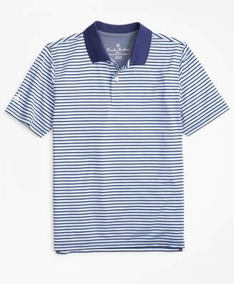 Brooks Brothers Boys Performance Feeder Stripe Polo Shirt