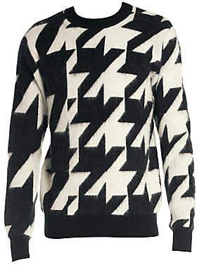 Alexander McQueen Men's Houndstooth Virgin Wool Sweater