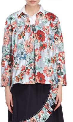 I'M Isola Marras Striped Floral Blouse