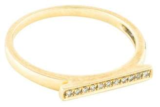 Sylvie Dana Rebecca Designs 14K Diamond Rose Bar Ring