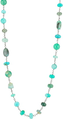 Sheryl Lowe Long Turquoise Necklace