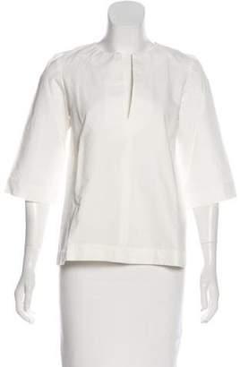 Apiece Apart Linen-Blend Short Sleeve Top