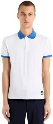 Prada Stretch Cotton Jersey Polo Shirt