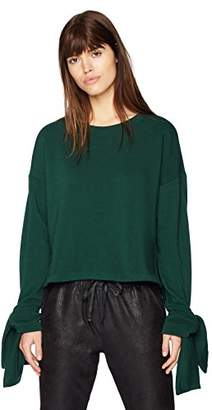 Something for Everyone A Crewneck Pullover With Elongated Sleeve Cuffs